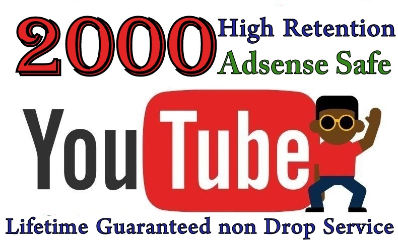 2000+ YOUTUBE VIEWS High Retention safe and Lifetime Guaranteed