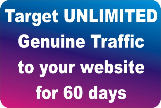 I will drive real Unlimited Website TRAFFIC to your website For 60 Days