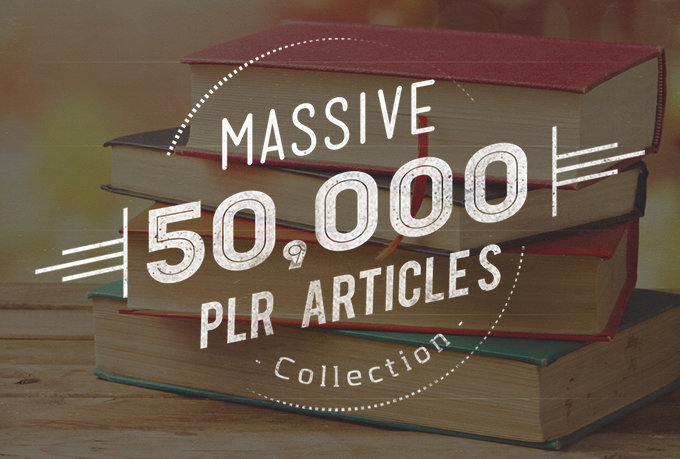 Massive 50,000 plr article collection