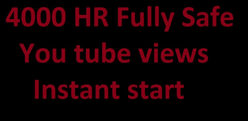 2000+ HR Youtube views Instant Start fully Safe