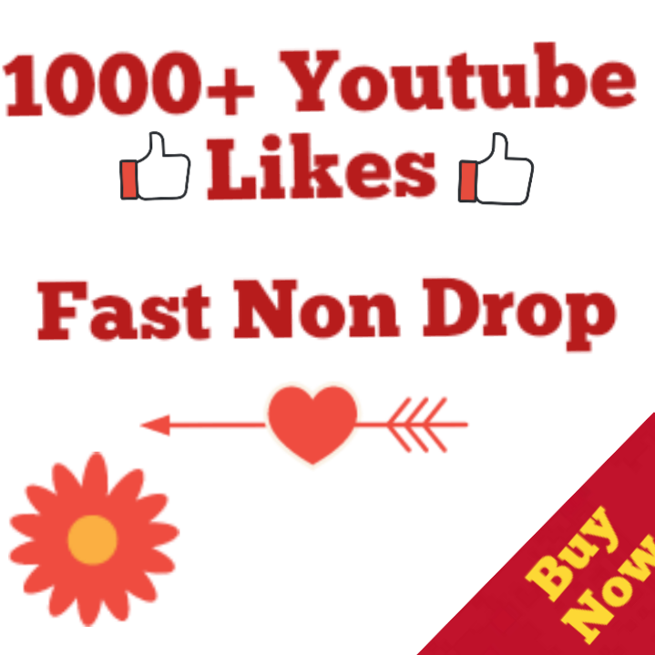 1000+ Youtube Likes Complete very fast 12-24  Hours
