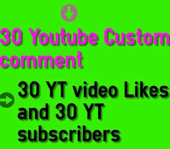 Buy 30+ Y-T Custom Com-ment & 30 Video lik-es & 30 Subs-crib-ers Instant 1 hour delivery