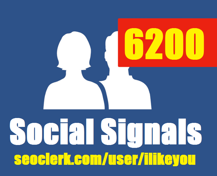 6200 Top SEO Social Signals / Backlinks / Bookmarks - Help to rank your website or Video In Google First Page