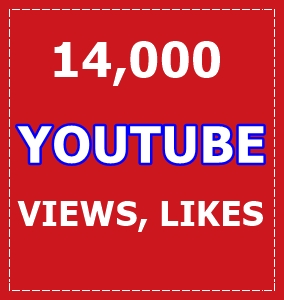 14,000 Youube Views and 300 Likes