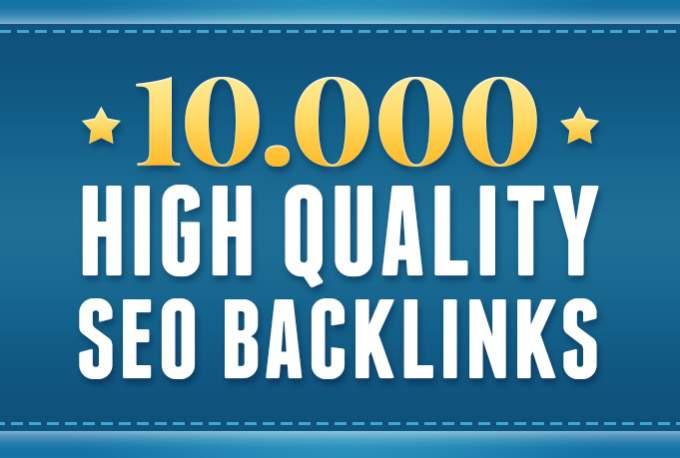 I will make 10000 High Quality Backlinks for GSA Google Ranking