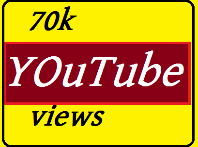 70,000 HQ Safe, Super Fast YouTube views 1-4 days complete and non drop