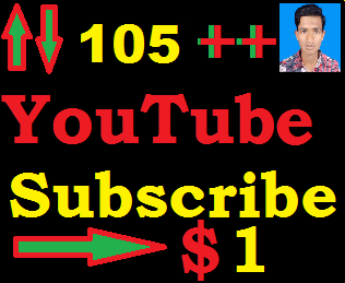 Fast 105++ YouTube Subscribers Or 120+ YouTube Like Only