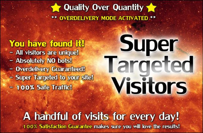 I will send Super TARGETED Traffic to your Site or Blog