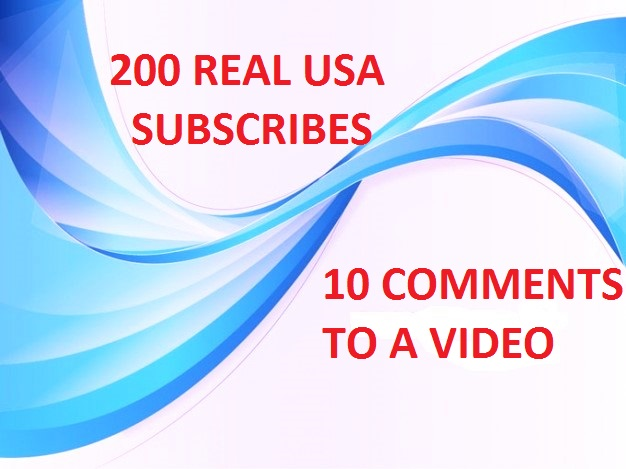 Give 200 Real youtube USA Subscribers and 10 Comments
