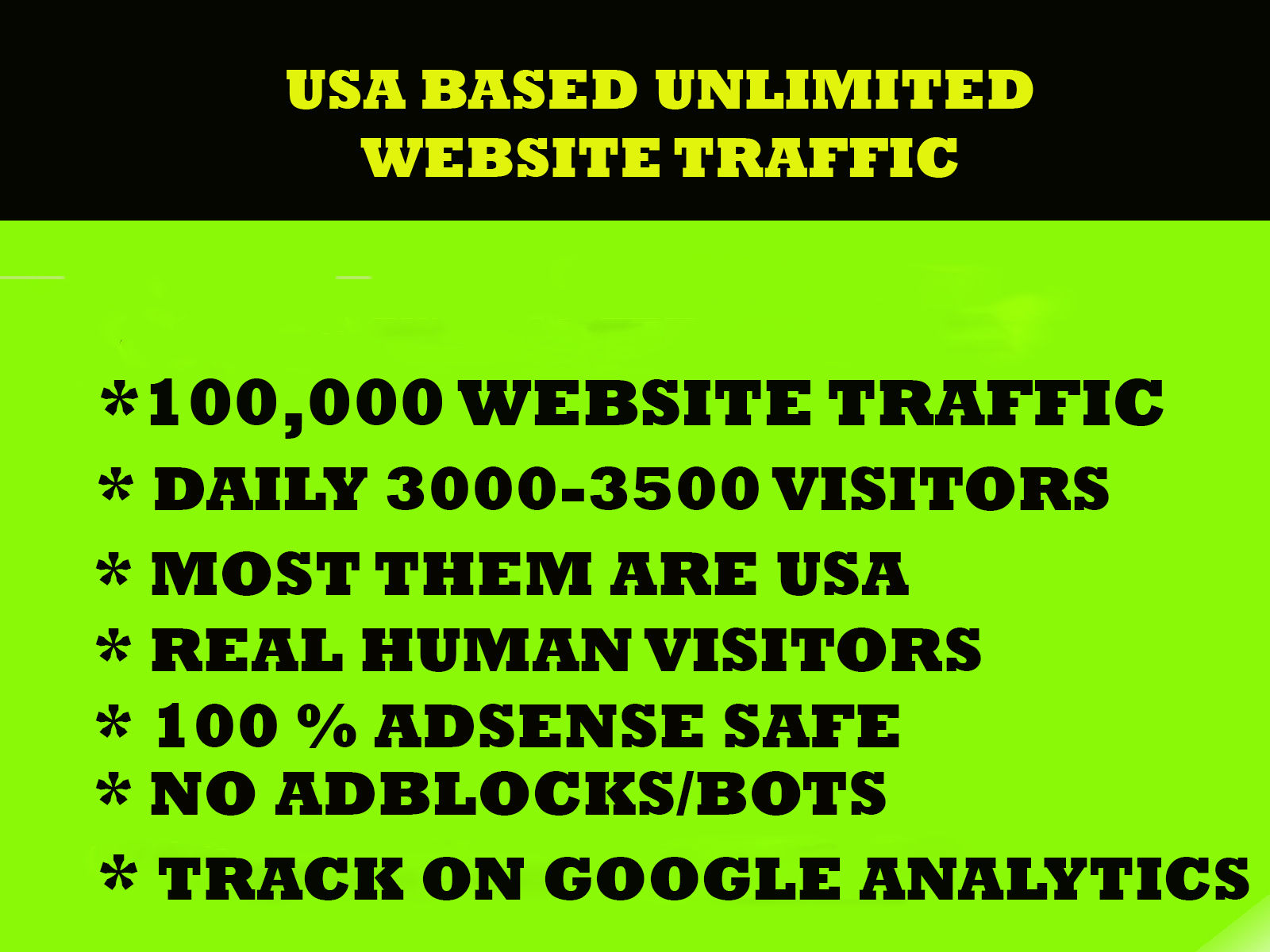 100,000 views for your website real web traffic.
