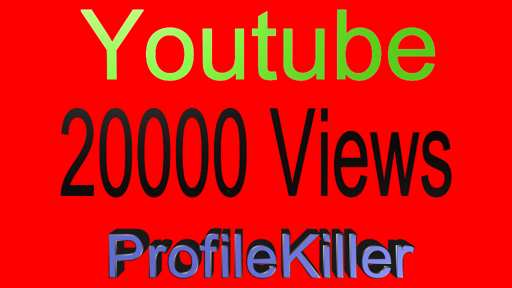Youtube 20000+ High Quality Views