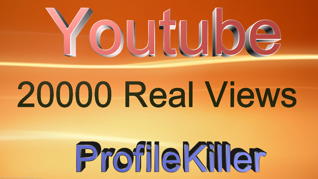 Youtube 20000+Real People High Quality Views
