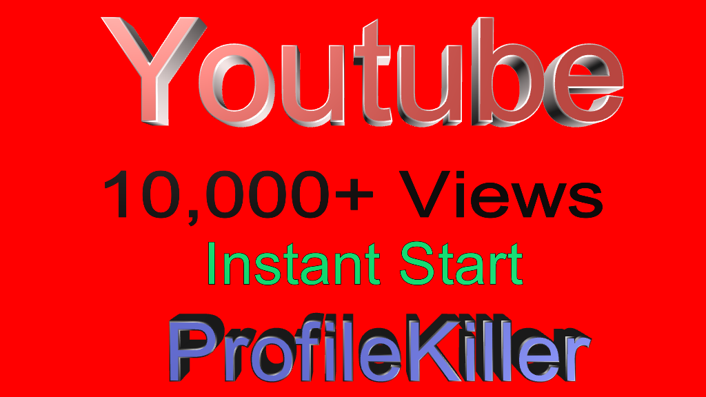 Youtube 10,000+ Views Instant process