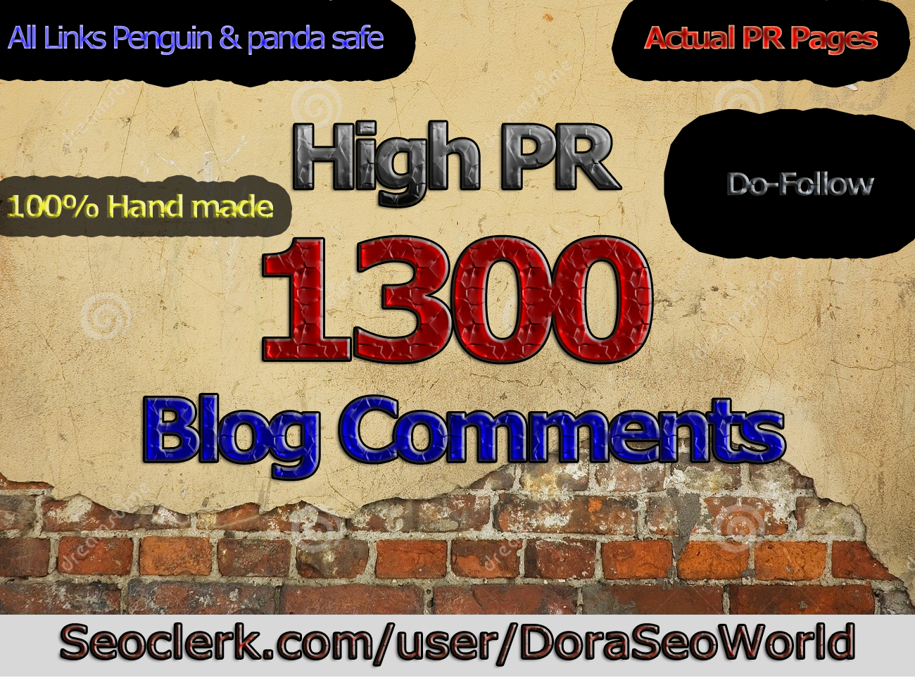 Create 1300 High DA PA Dofollow Blog Comment Backlinks