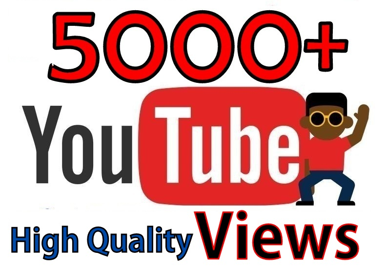 Youtube 5000+ Vieews 50+ Real Llkes Super Fast A+ Updated