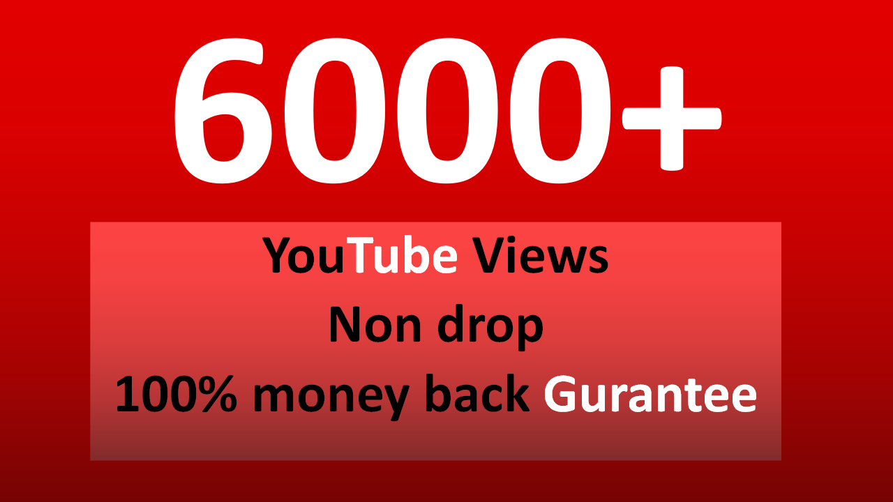 Fast 5,000 to 6,000+ YouTube views & 2 free likes