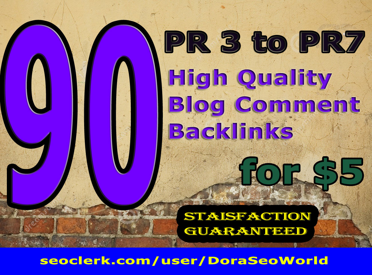 manually create 90 PR3 to 7 high PR blog comment backlinks