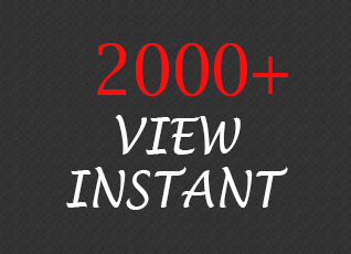 Give You 2000+ Video View Instant