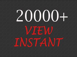 Give You 20000+ Video View Instant