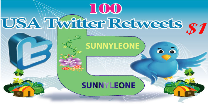 USA 100 Twitter Follower or Retweets or Likes