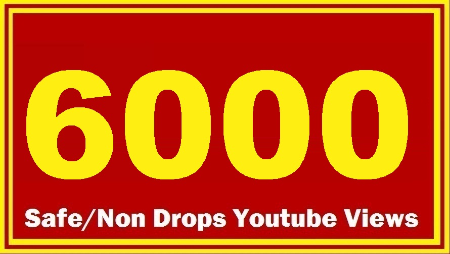 1000 HQ Safe YouTube Views Super Fast delivery