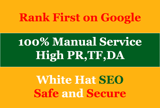 Create 10 High pr da backlinks manually white hat SEO