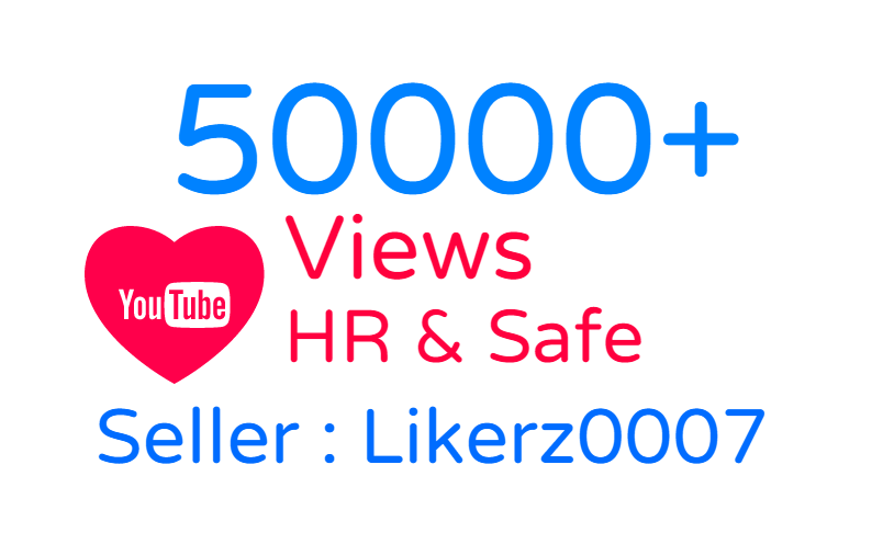 Get promotion of 50000 to your YouTube video with HR Promotion and Safe