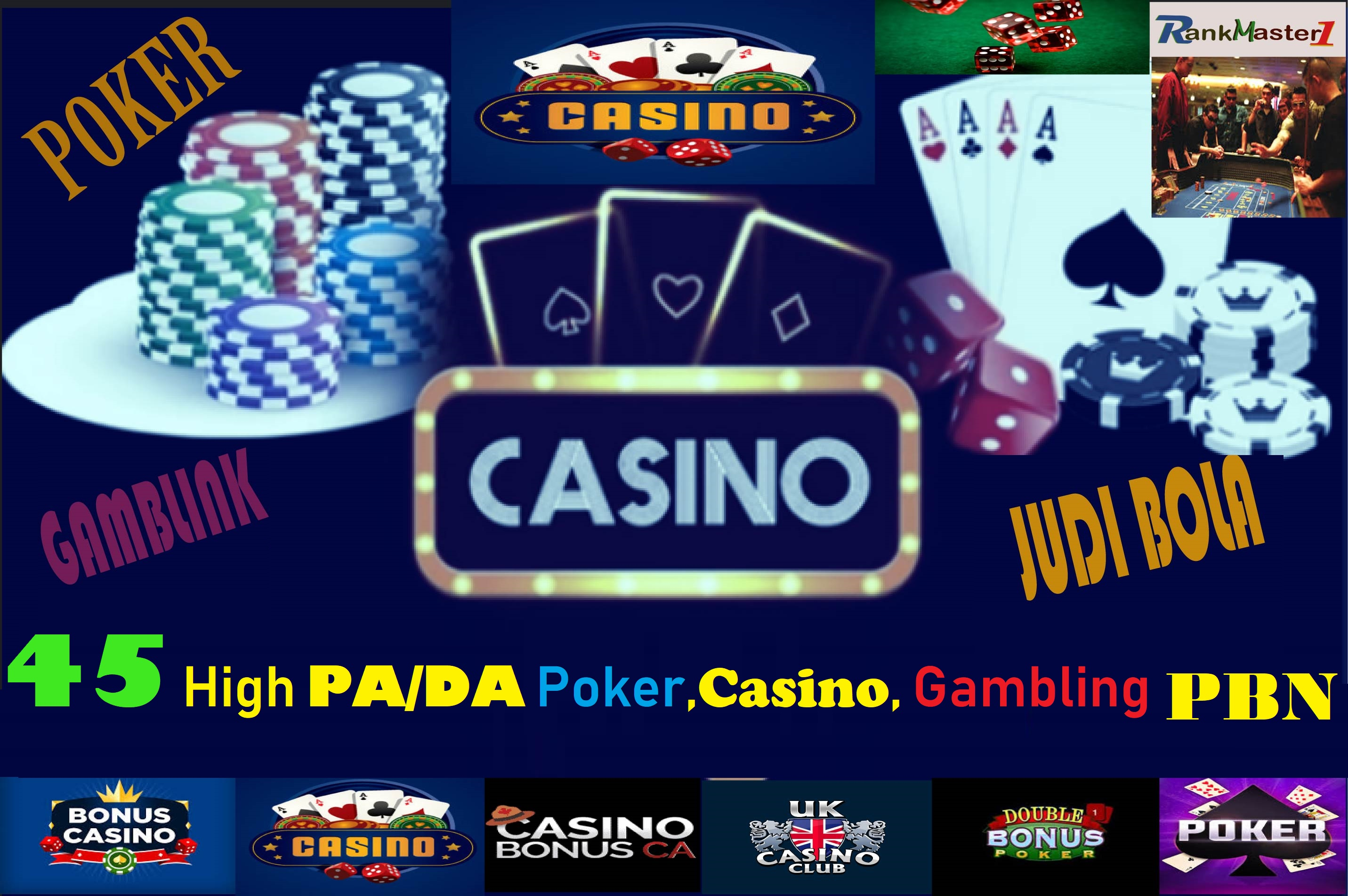 45 Powerful DA/PA Casino, Gambling, Poker PBN Links