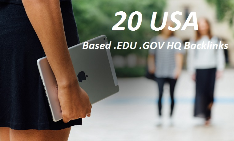 I will Create 20 USA Based Edu and Gov Backlinks