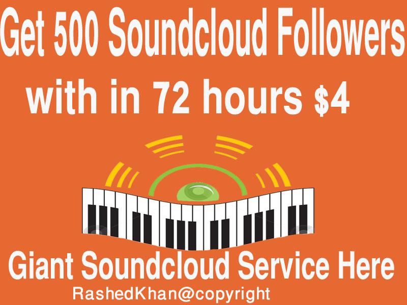 Provide you 500 Soundcloud Followers