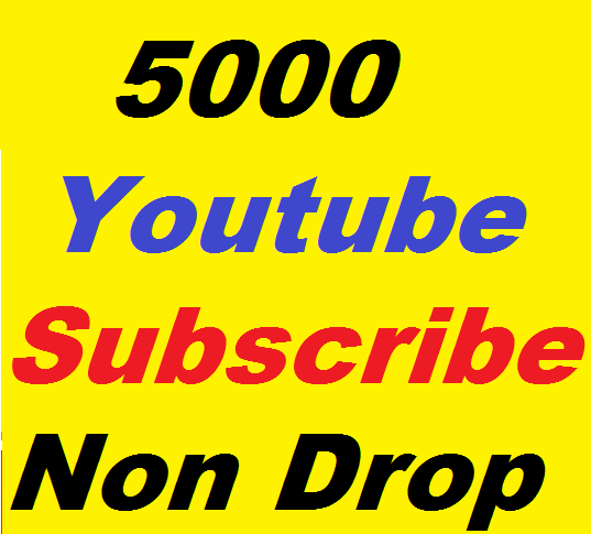 5000+ YouTube Subscribers Non Drop