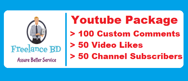 Fast YouTube 100 Custom Comments 50 Likes And 50 Subscriber