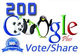 200 Real Googleplusone / Votes with split also availa... for $1
