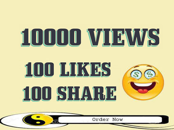 I will provide 10000 YouTube views 100 likes 100 share