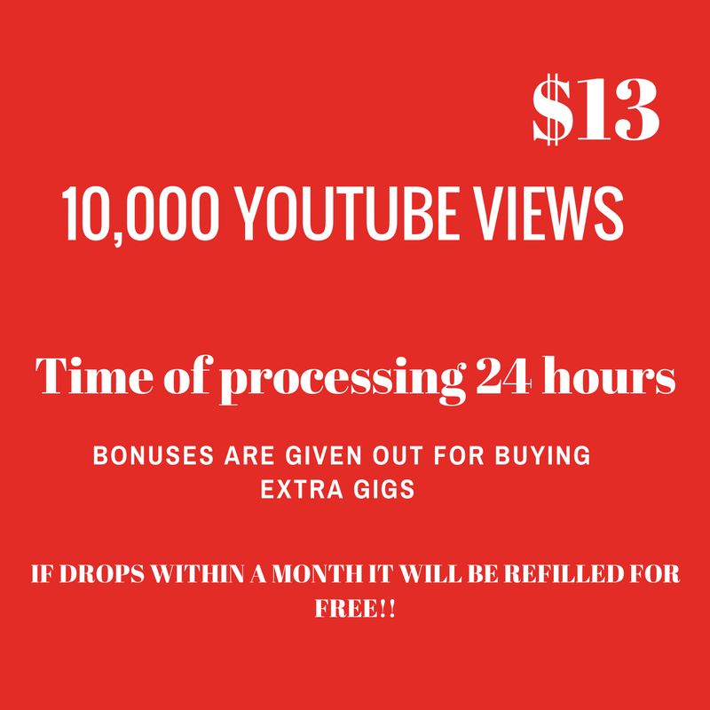 10,000 youttuber viewers cheapest ptrice