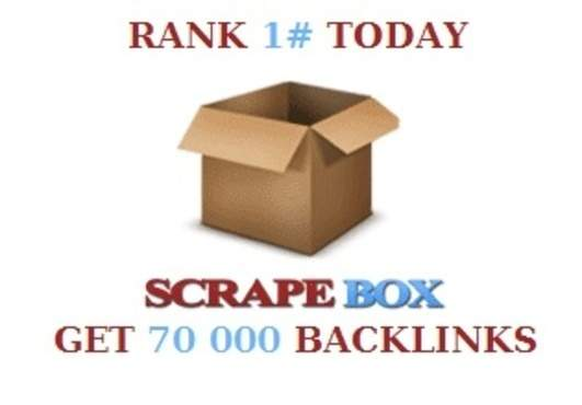 I will do a scrapebox blast of 70 000 blog comments!!