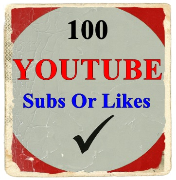 50 Youtube Subscriber Or 100 Likes  On Your Youtube Video