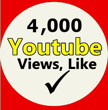 4,000 Youtube Views 100 Likes  On Your Youtube Video