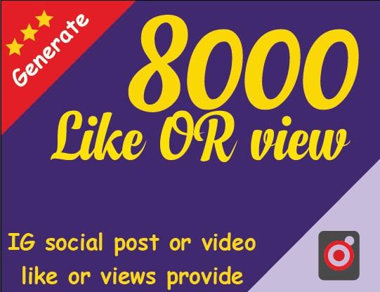 social post promotion 8000  view or likk