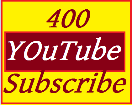 Safe 400+  YouTube Subscribe 100% Non drop   Very Fast  OR  1000 YouTube like