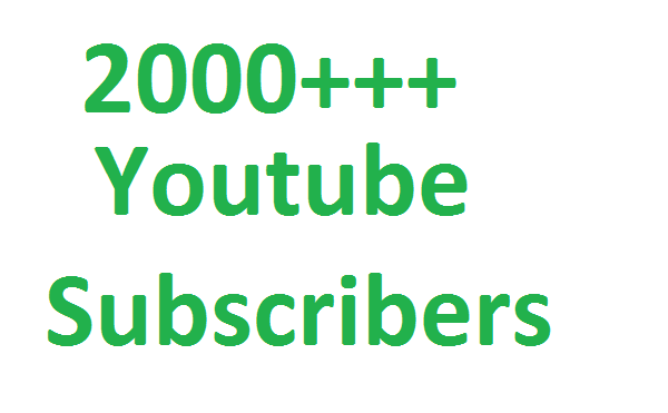 Buy 2000++ Youtube subscribers non drop Guaranteed