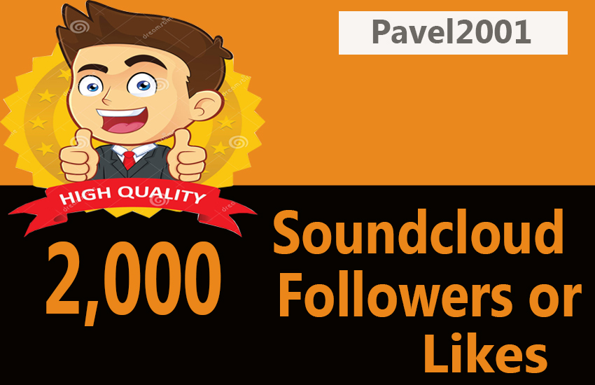 Professionally Add 2000 Soundcloud Followers Or Likes only