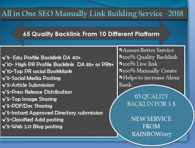 All In One Seo Linkbuilding Service With High DA 65 High Quality Backlinks