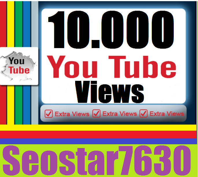 I Provide 10.000 You♡Tube View.s  Or 1.000 You♡Tube Lik=es Completed only