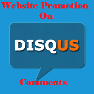 High quality promotion your website on Disqus comments with live URL