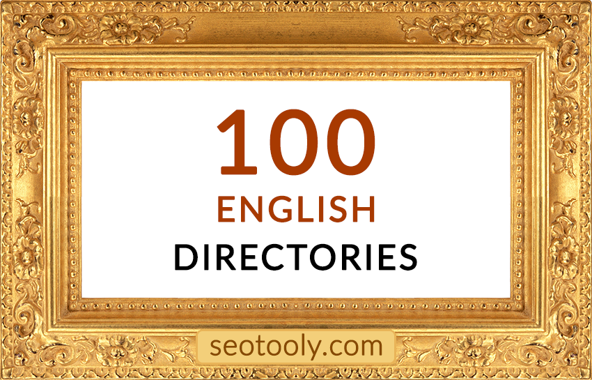 Manually 100 English directory submissions