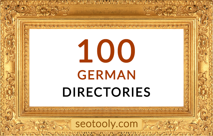 Manually 100 German directory submissions