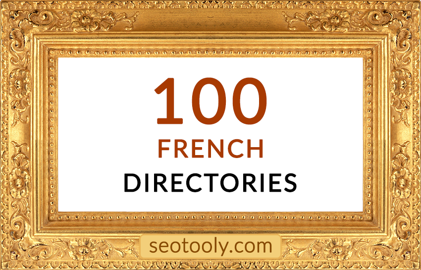 Manually 100 French directory submissions