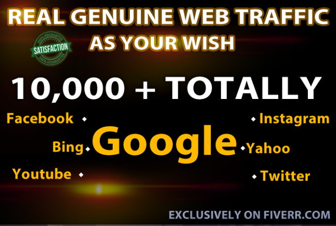 I will drive UNLIMITED genuine real website traffic for one month