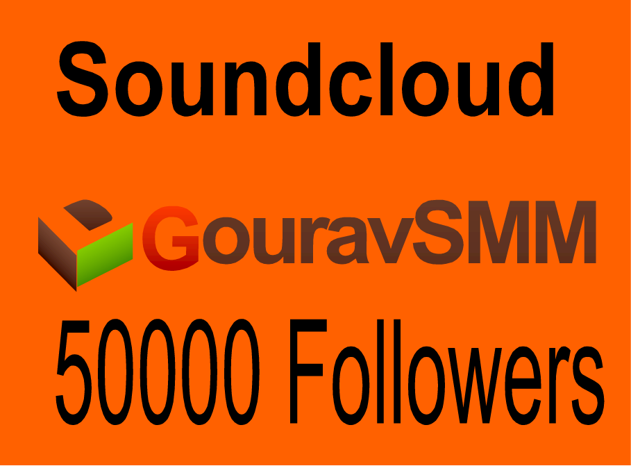 Soundcloud 50000 Followers or Likes or Reposts Best Quality